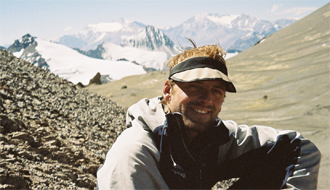 Bob Guiding on Aconcagua in South America.