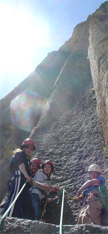 Great Family Group on Devils Tower North Face